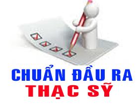 Chuan dau ra Thac si