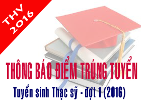 Thong bao diem trung tuyen dao tao trinh do thac si dot 1 (Nam 2016)