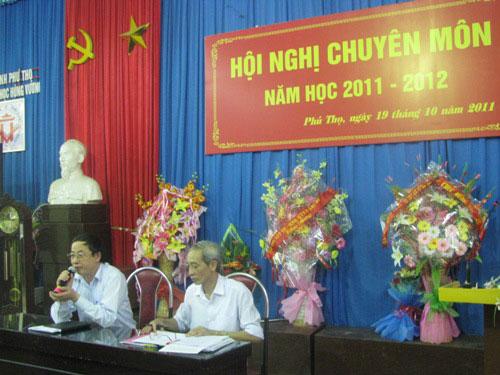 Hoi nghi cong tac chuyen mon nam hoc 2011 – 2012