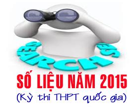 So lieu ky thi THPT quoc gia nam 2015