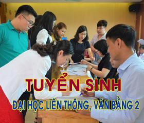 Tuyen sinh Dai hoc lien thong chinh quy, lien thong VLVH, van bang 2 VLVH nam 2021