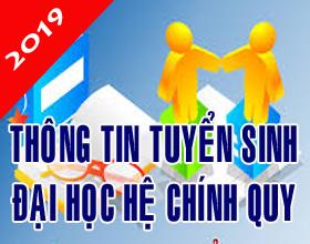 Thong tin tuyen sinh dai hoc he chinh quy nam 2019 - Ma truong THV