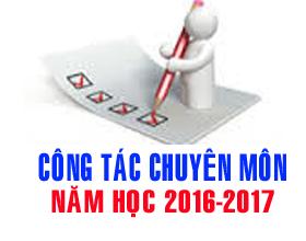 Huong dan thuc hien nhiem vu cong tac chuyen mon nam hoc 2016- 2017