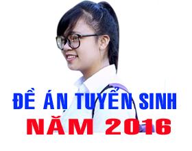 De an tuyen sinh dai hoc, cao dang he chinh quy nam 2016