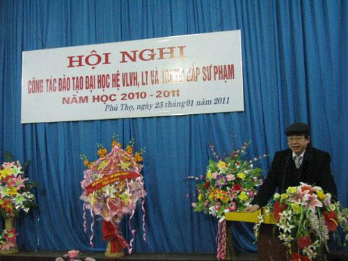 Hoi nghi cong tac dao tao dai hoc he vua lam vua hoc, lien thong va trung cap su pham nam hoc 2010 – 2011