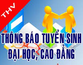 Thong bao tuyen sinh dai hoc, cao dang he chinh quy nam 2017