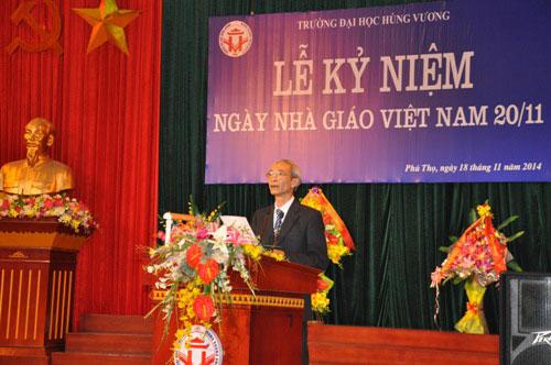 Truong Dai hoc Hung Vuong to chuc Le ky niem ngay Nha giao Viet Nam 20/11
