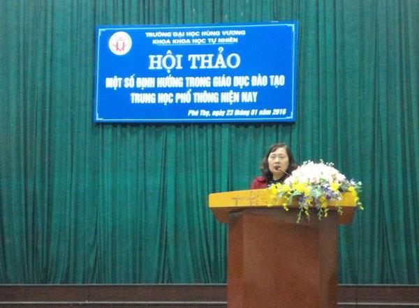 """Khoa Khoa hoc Tu nhien, Truong Dai hoc Hung Vuong to chuc thanh cong hoi thao khoa hoc """"Mot so dinh huong trong giao duc dao tao trung hoc pho thong hien nay"""""""