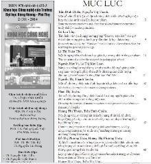 Thong tin Khoa hoc Cong nghe so 31 - 2014