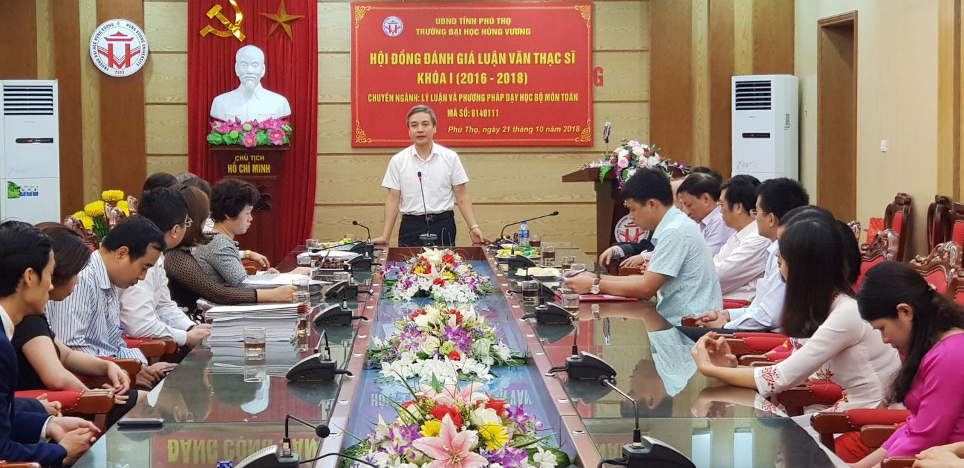 Le bao ve Luan van Thac si Ly luan va Phuong phap day hoc bo mon Toan khoa I (2016 – 2018) thanh cong ruc ro