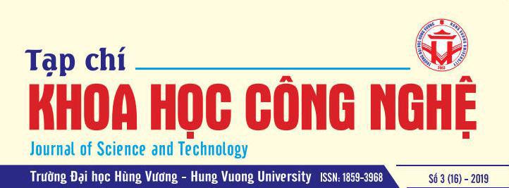 Tap chi Khoa hoc va Cong nghe Truong Dai hoc Hung Vuong tap 16, so 3 (2019)