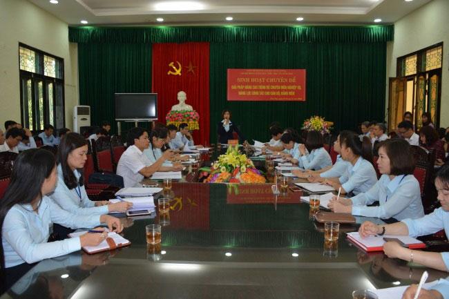 Truong Dai hoc Hung Vuong to chuc thanh cong sinh hoat Chi bo diem