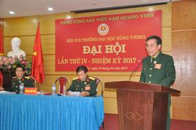 Hoi Cuu chien binh truong Dai hoc Hung Vuong to chuc Dai hoi Hoi Cuu chien binh lan thu IV, nhiem ky 2017-2022