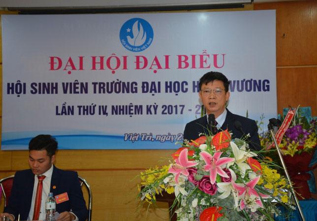 Dai hoi dai bieu Hoi Sinh vien cua Truong Dai hoc Hung Vuong lan thu IV, nhiem ky 2017 - 2020 thanh cong ruc ro