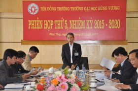 Hoi dong truong Truong Dai hoc Hung Vuong hop phien thu 5, nhiem ky 2015 – 2020