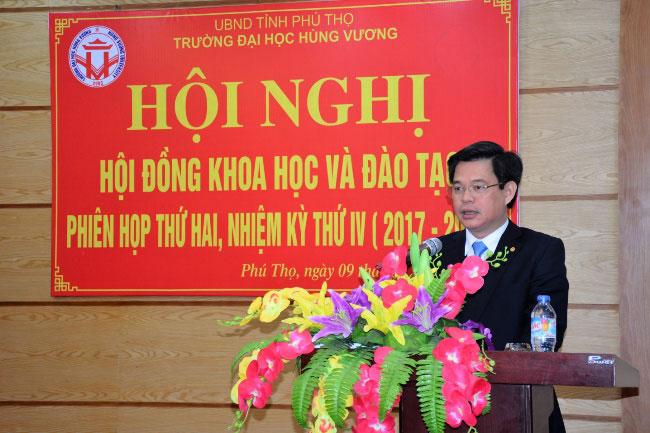 Hoi nghi Hoi dong Khoa hoc va Dao tao Truong Dai hoc Hung Vuong phien thu hai, nhiem ky 2017-2022