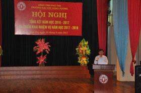 Truong DH Hung Vuong to chuc hoi nghi tong ket nam hoc 2016 – 2017 va trien khai nhiem vu nam hoc 2017 – 2018