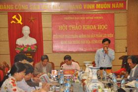 Truong DH Hung Vuong to chuc Hoi thao