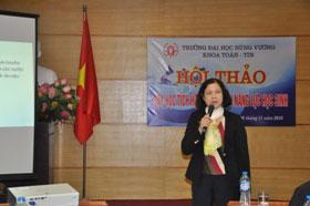 "Khoa Toan Tin, Truong Dai hoc Hung Vuong to chuc Hoi thao ""Day hoc tich hop phat trien nang luc hoc sinh"""