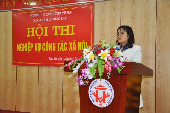 Khoa Tam ly Giao duc to chuc Hoi thi nghiep vu Cong tac Xa hoi nam 2017