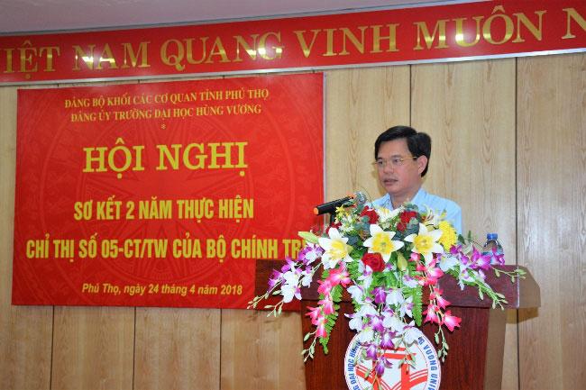 Hoi nghi so ket 2 nam thuc hien Chi thi 05-CT/TW cua Bo Chinh tri