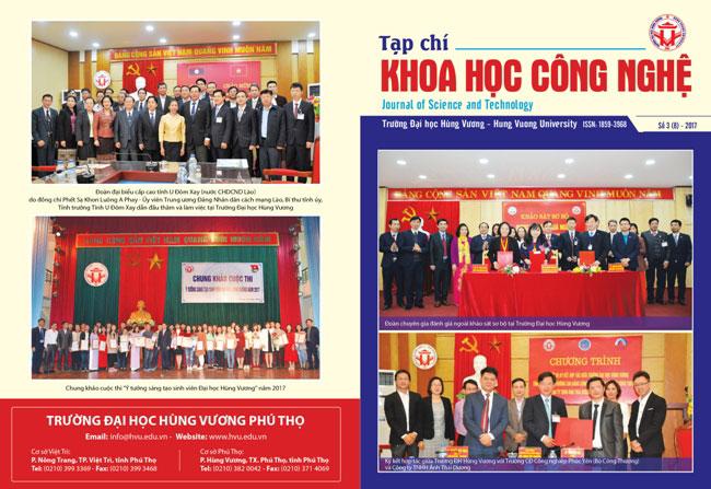 Tap chi Khoa hoc Cong nghe so 8 - 2017