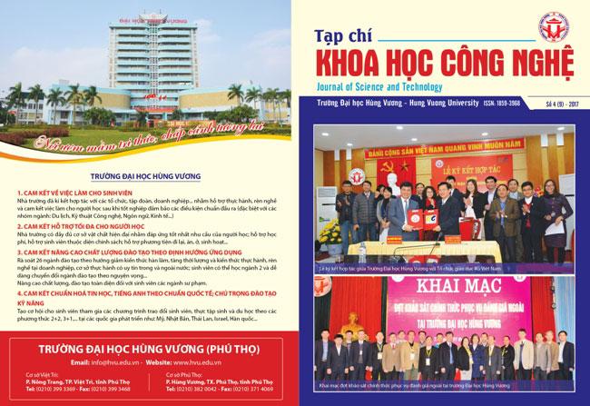 Tap chi Khoa hoc Cong nghe so 9 - 2017
