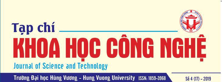 Tap chi Khoa hoc va Cong nghe Truong Dai hoc Hung Vuong tap 17, so 4 (2019)