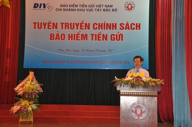 Truong Dai hoc Hung Vuong phoi hop voi Bao hiem tien gui Viet Nam to chuc chuong trinh tuyen truyen chinh sach Bao hiem tien gui