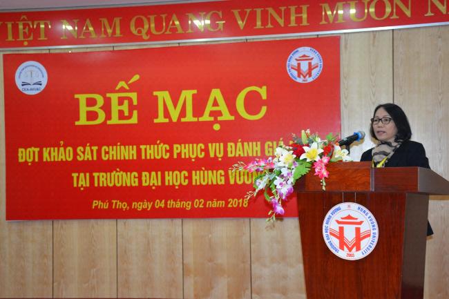 Be mac dot khao sat chinh thuc phuc vu danh gia ngoai tai Truong DH Hung Vuong
