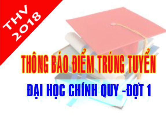 Thong bao diem trung tuyen va danh sach trung tuyen dai hoc he chinh quy nam 2018 (dot 1)
