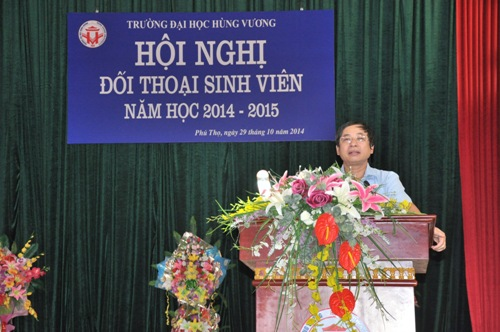 Truong Dai hoc Hung Vuong to chuc Hoi nghi doi thoai sinh vien nam hoc 2014 - 2015