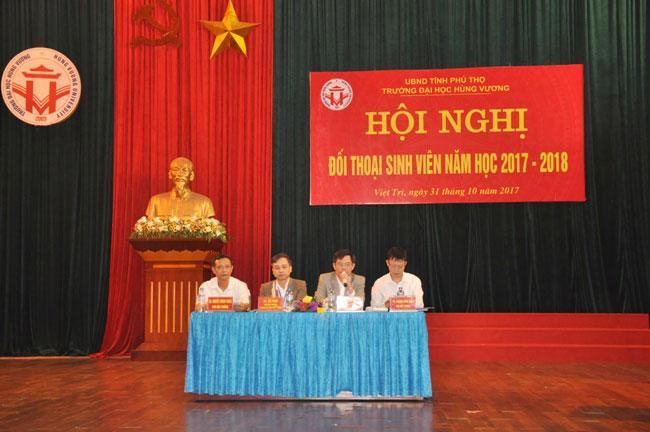 Truong Dai hoc Hung Vuong to chuc Hoi nghi doi thoai sinh vien nam hoc 2017 - 2018