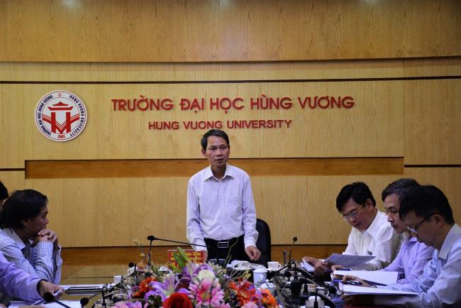 Hoi nghi Hoi dong truong Truong DH Hung Vuong phien thu 8, nhiem ky 2015 – 2020