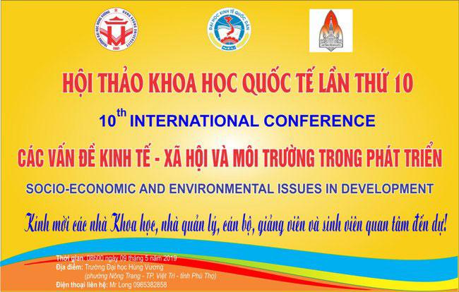 """Truong DH Hung Vuong tich cuc chuan bi Hoi thao khoa hoc quoc te """"Cac van de Kinh te - Xa hoi va Moi truong trong phat trien"""""""