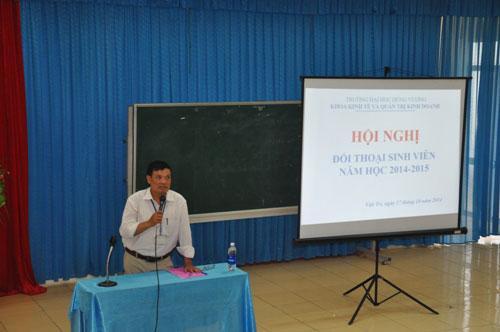Khoa Kinh te va QTKD to chuc hoi nghi doi thoai sinh vien nam hoc 2014 - 2015