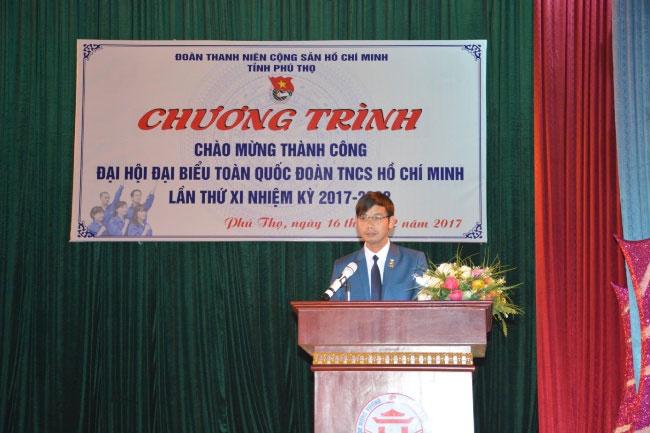 Chuong trinh nghe thuat chao mung thanh cong cua Dai hoi dai bieu toan quoc Doan TNCS Ho Chi Minh lan thu XI, nhiem ky 2017 - 2022 tai truong Dai hoc Hung Vuong