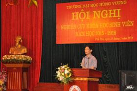 Hoi nghi nghien cuu khoa hoc sinh vien nam hoc 2015 – 2016