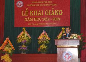 Toan van bai phat bieu cua Hieu truong Truong Dai hoc Hung Vuong tai le khai giang nam hoc 2017- 2018