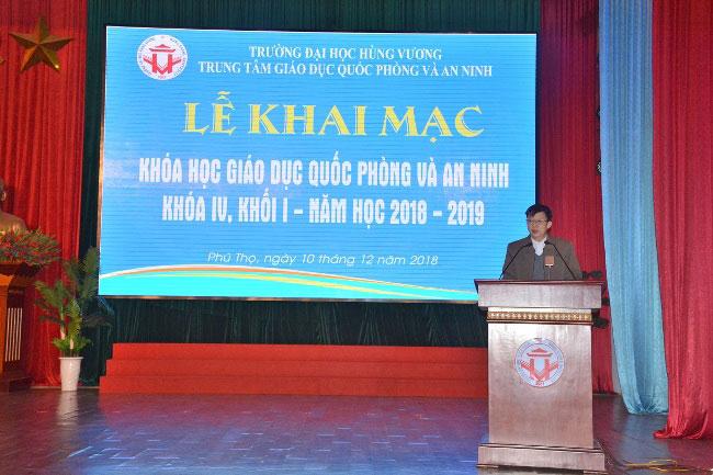 Khai mac khoa hoc Giao duc Quoc Phong va An ninh tap trung khoa IV, khoi 1, nam hoc 2018 – 2019