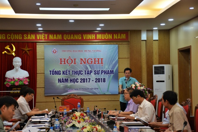 Hoi nghi tong ket thuc tap Su pham nam hoc 2017 – 2018
