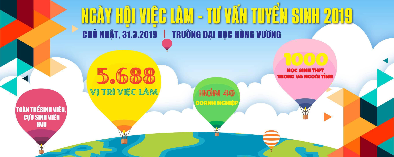 Video tong hop Ngay hoi viec lam - Tu van tuyen sinh nam 2019 (31/3/2019)