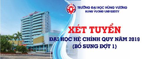 Thong bao: Xet tuyen dai hoc he chinh quy nam 2019 – Bo sung dot 1