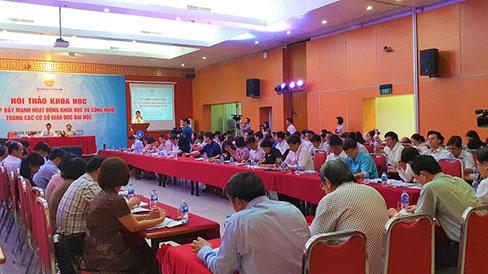 Truong DH Hung Vuong tham du Hoi thao khoa hoc: Giai phap day manh hoat dong khoa hoc cong nghe trong cac co so giao duc dai hoc do Bo GD&DT to chuc