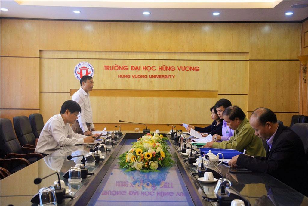Hoi Cuu chien binh Khoi cac co quan tinh Phu Tho kiem tra cong tac Hoi Cuu chien binh Truong Dai hoc Hung Vuong nam 2019