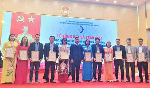 Nhieu de tai cua Truong Dai hoc Hung Vuong dat giai cao tai Le tong ket Hoi thi Sang tao ky thuat tinh Phu Tho nam 2020