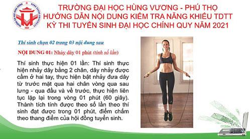 Huong dan du thi nang khieu The duc The thao online