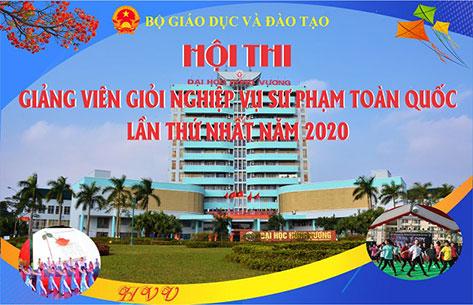 Hoi nghi thong nhat cac noi dung cho Hoi thi Giang vien gioi NVSP toan quoc lan thu nhat nam 2020