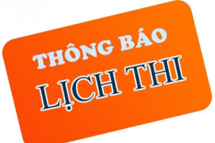 Lich thi hoc phan thang 8 nam 2021