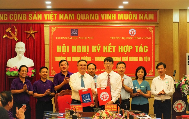 Truong Dai hoc Hung Vuong ky ket hop tac toan dien voi Truong Dai hoc Ngoai ngu (DH Quoc gia Ha Noi)